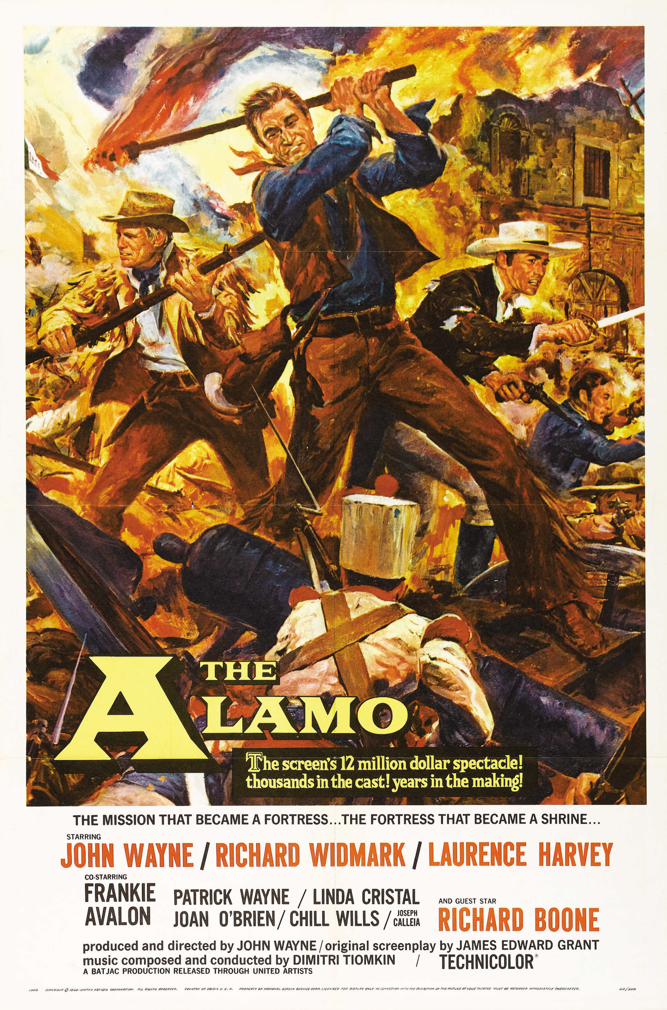 The Alamo (1960) Technical Specifications