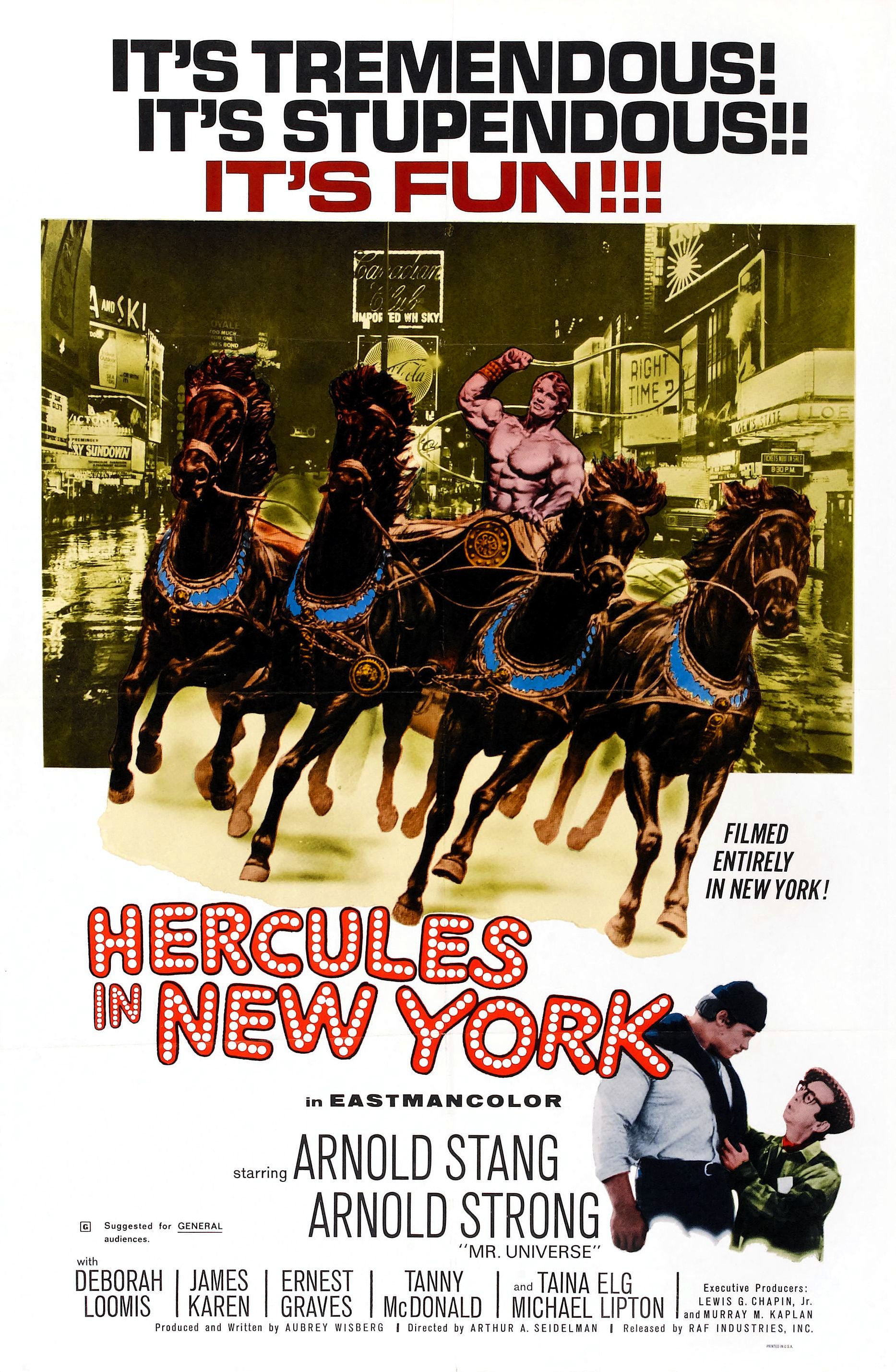 Hercules in New York (1969) Technical Specifications