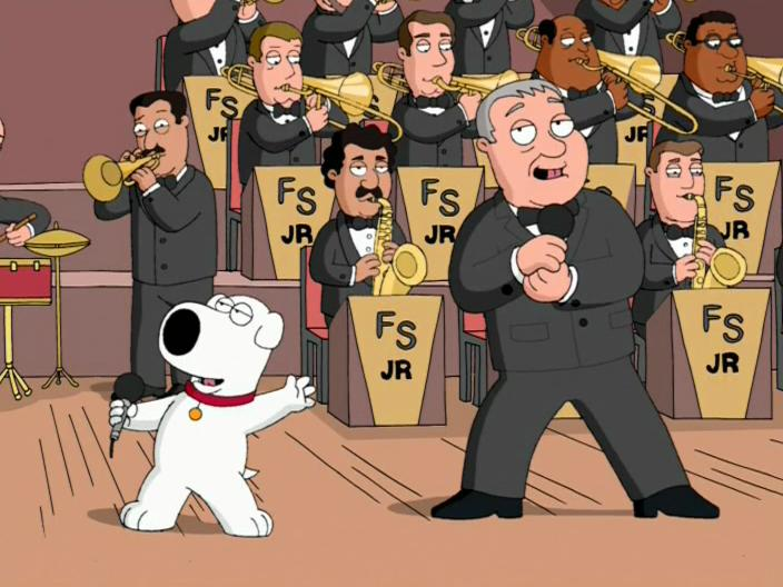 """Family Guy"" Brian Sings and Swings"