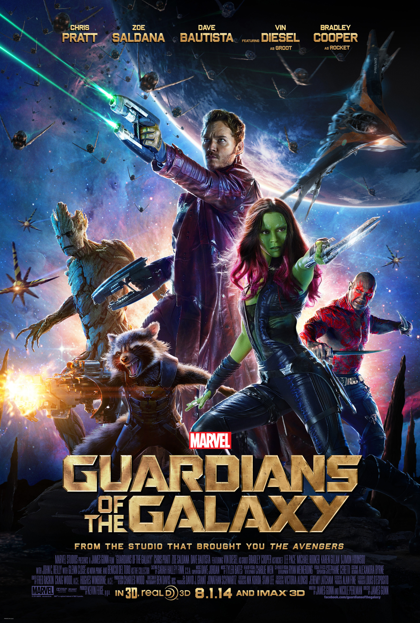 Guardians of the Galaxy (2014) Technical Specifications