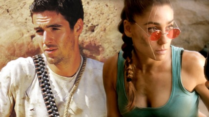 """Super Power Beat Down"" Lara Croft (Tomb Raider) vs. Nathan Drake (Uncharted) 