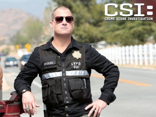 """CSI: Crime Scene Investigation"" Dead in His Tracks 