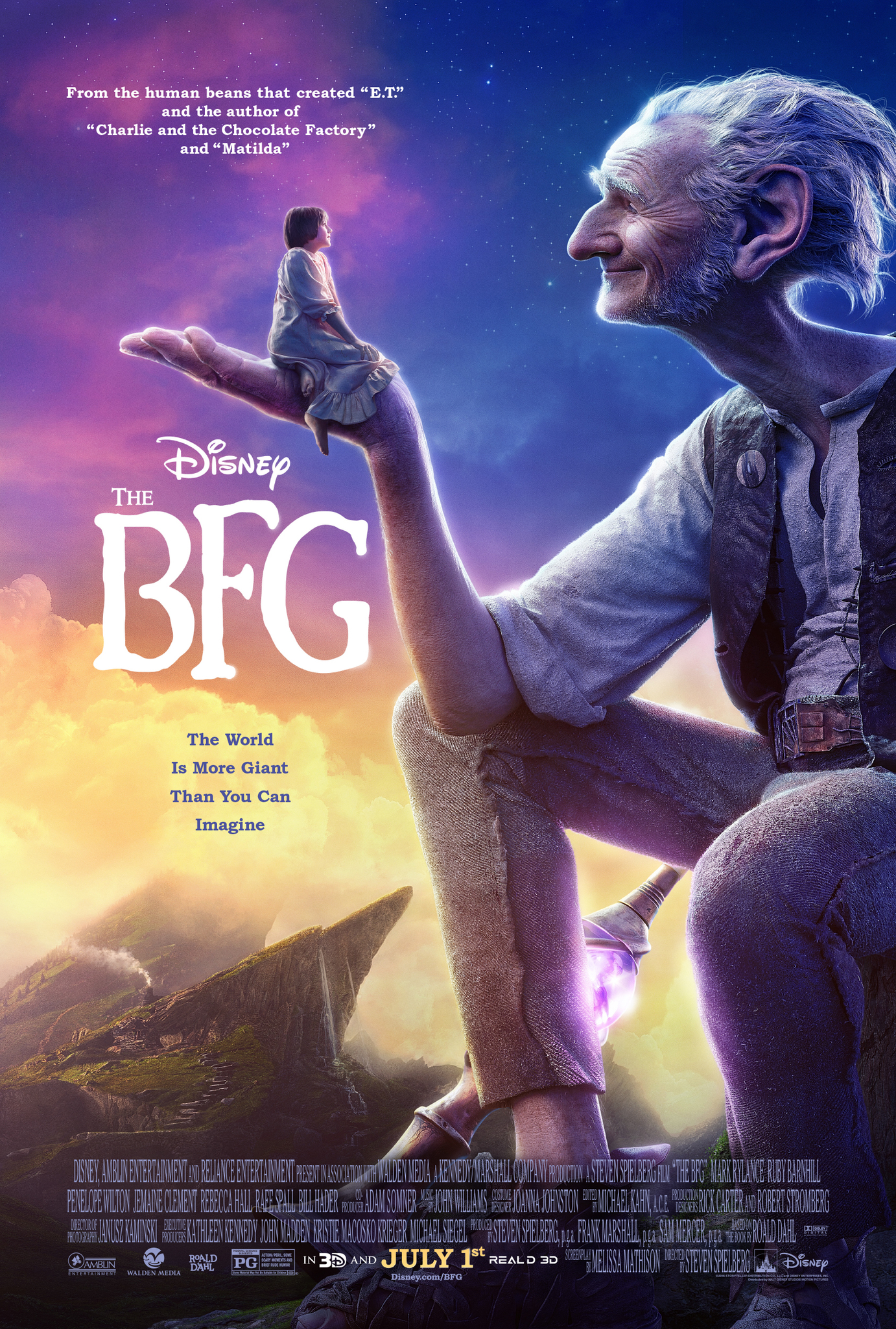 The BFG (2016) Technical Specifications