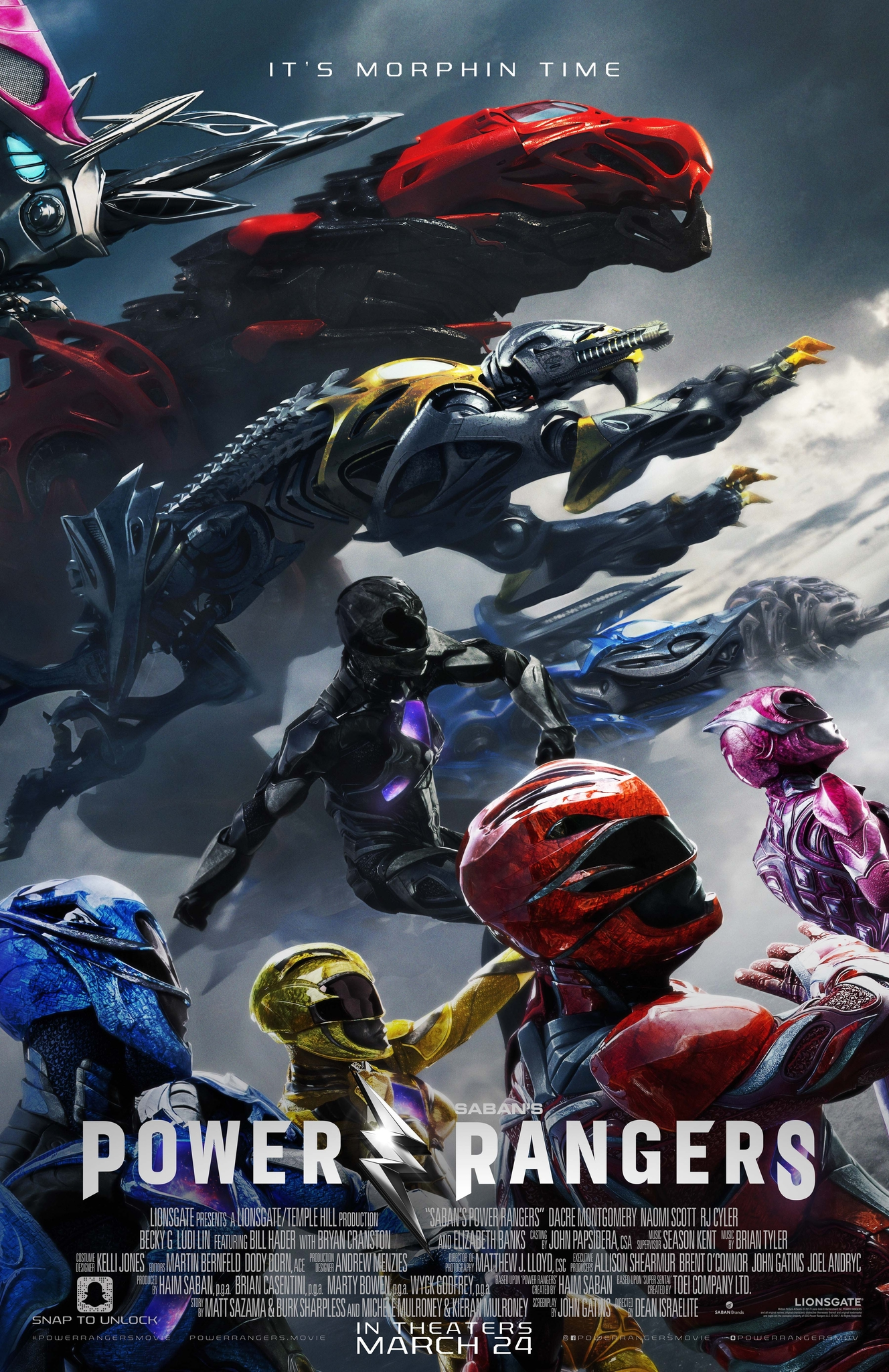 Power Rangers (2017) Technical Specifications