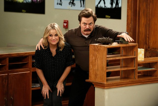 """Parks and Recreation"" Leslie and Ron 