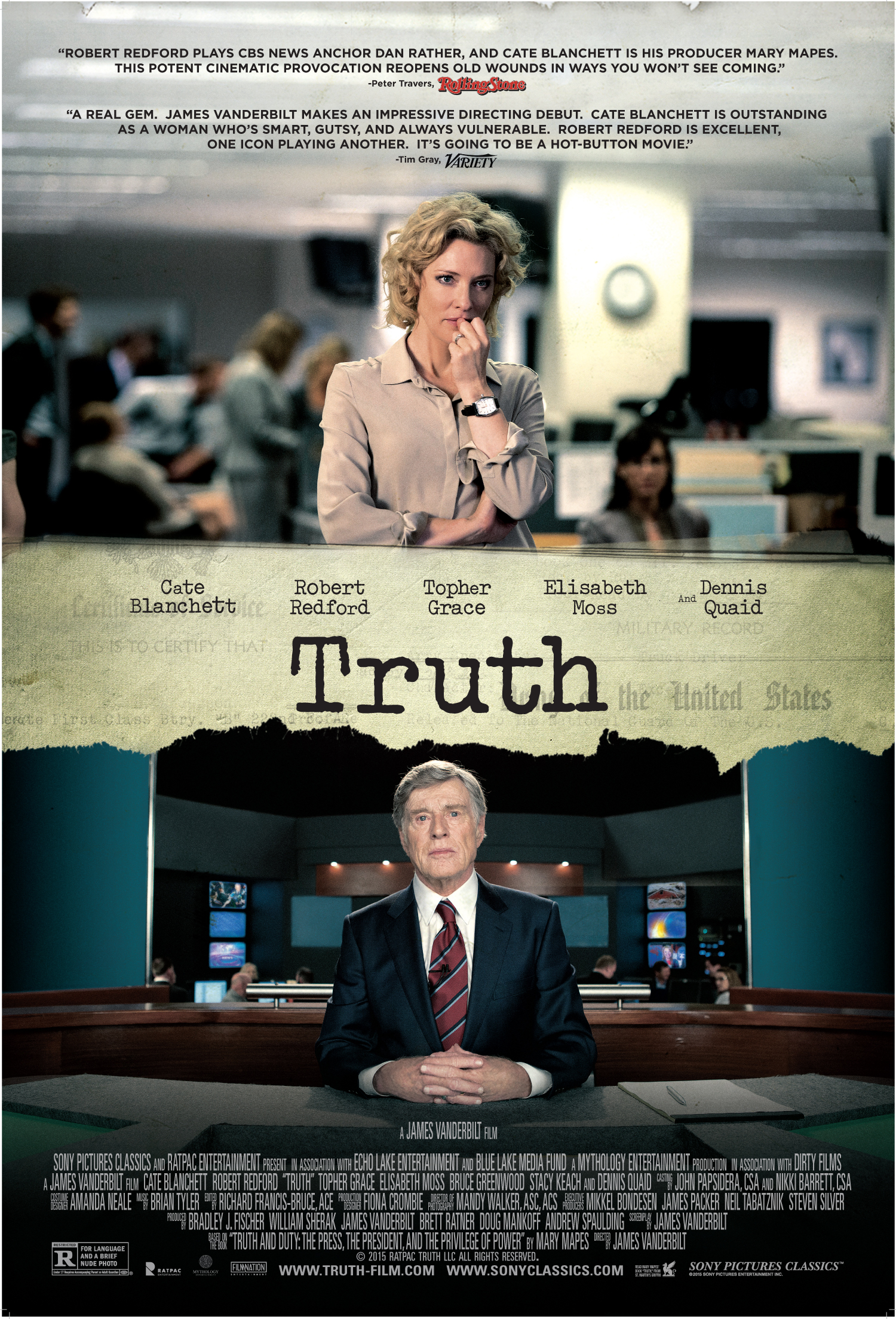 Truth (2015) Technical Specifications