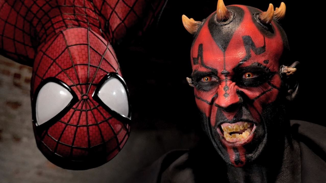 """Super Power Beat Down"" Spider-Man vs. Darth Maul 