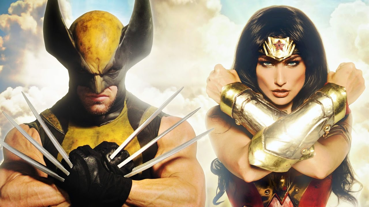 """Super Power Beat Down"" Wonder Woman vs Wolverine 