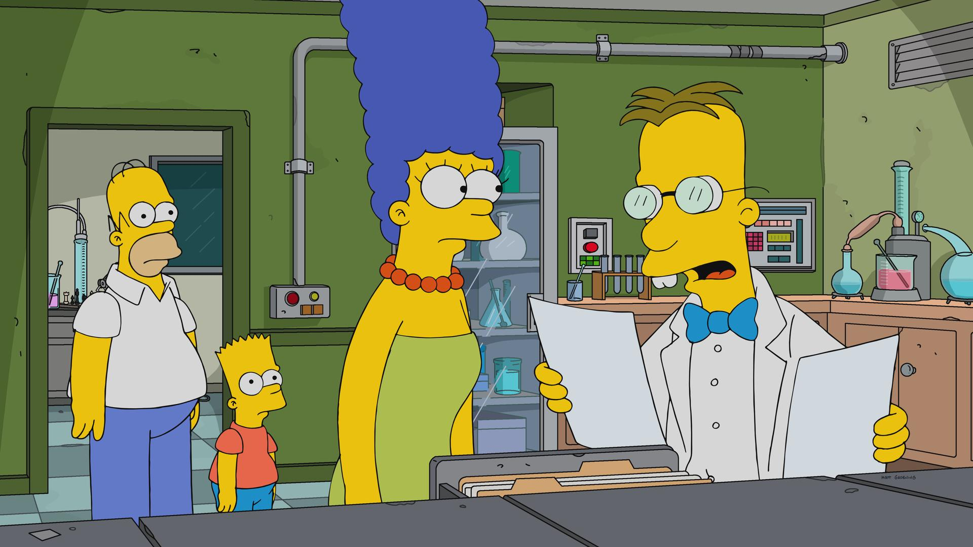 """The Simpsons"" Frink Gets Testy"