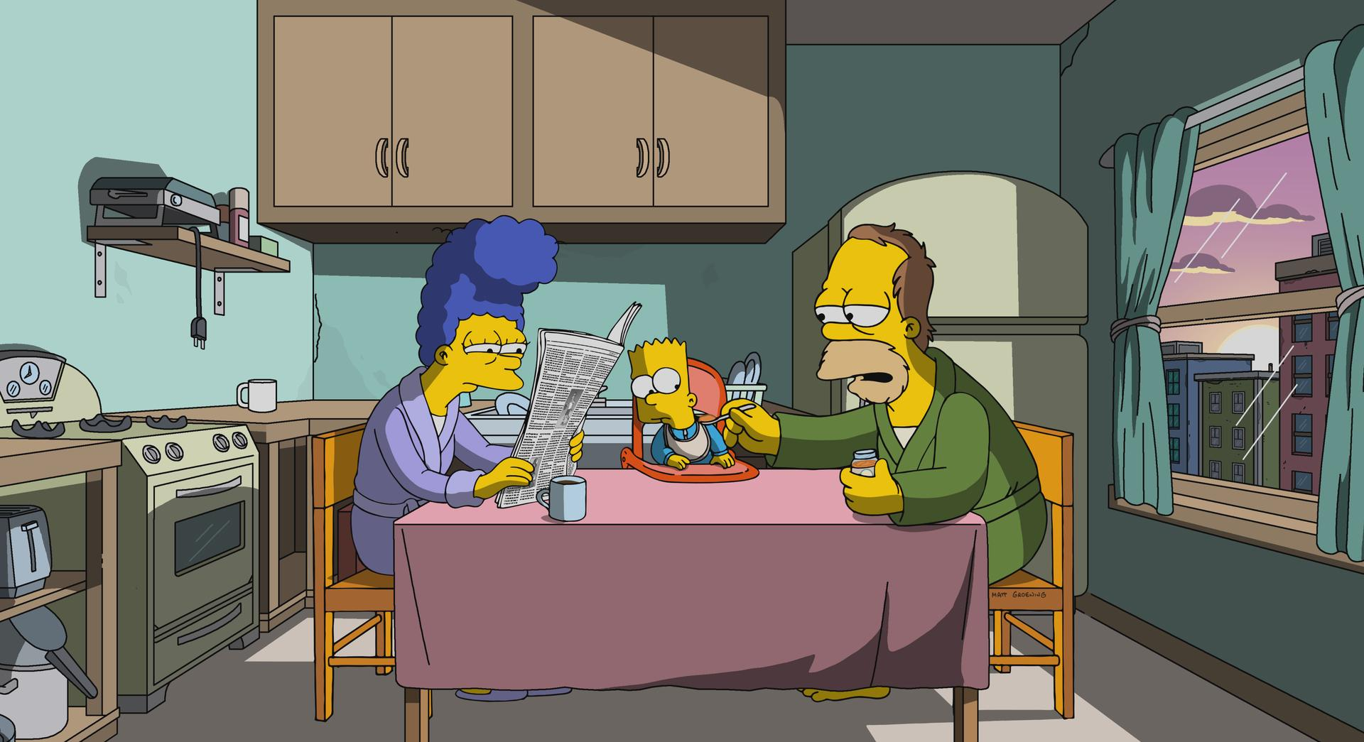 """The Simpsons"" 3 Scenes Plus a Tag from a Marriage"
