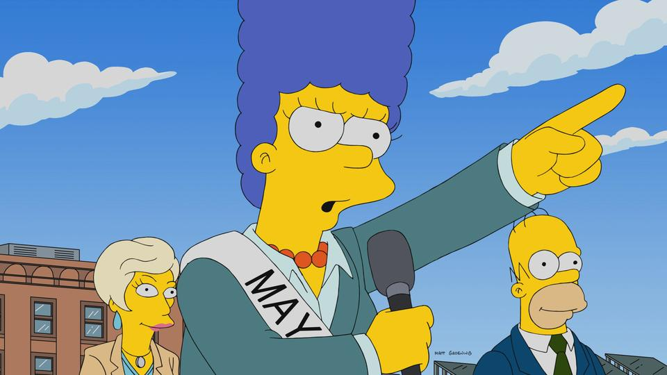 """The Simpsons"" The Old Blue Mayor She Ain't What She Used To Be"