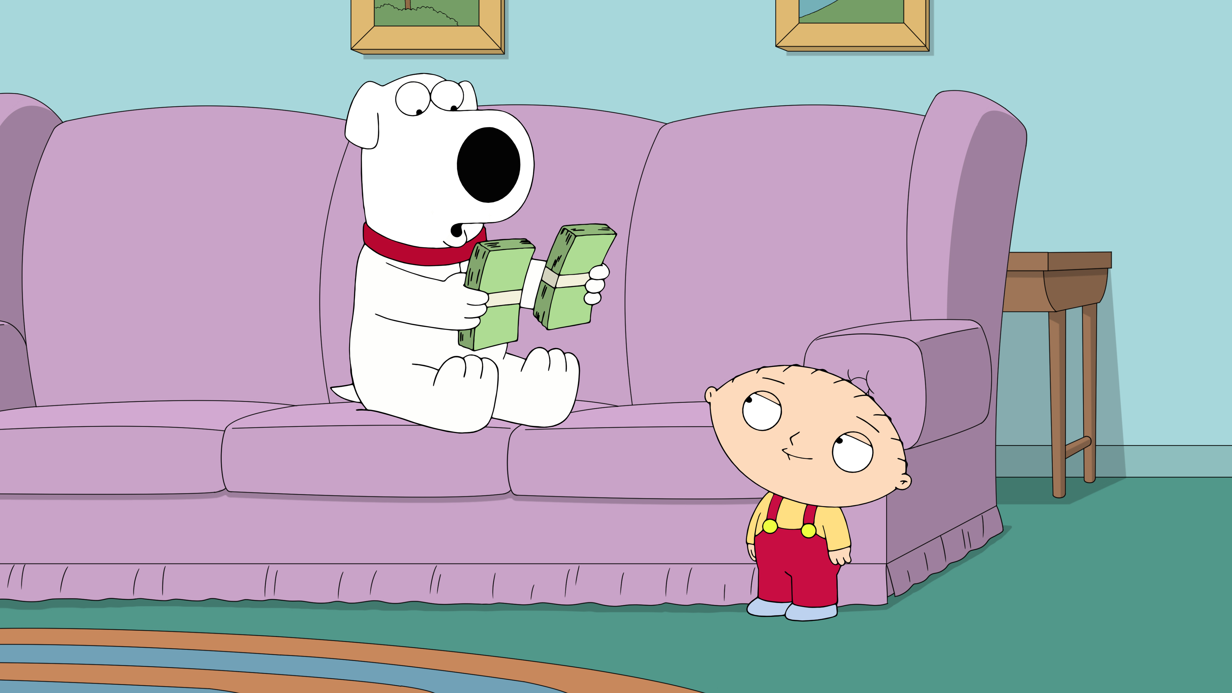 """Family Guy"" The Woof of Wall Street"
